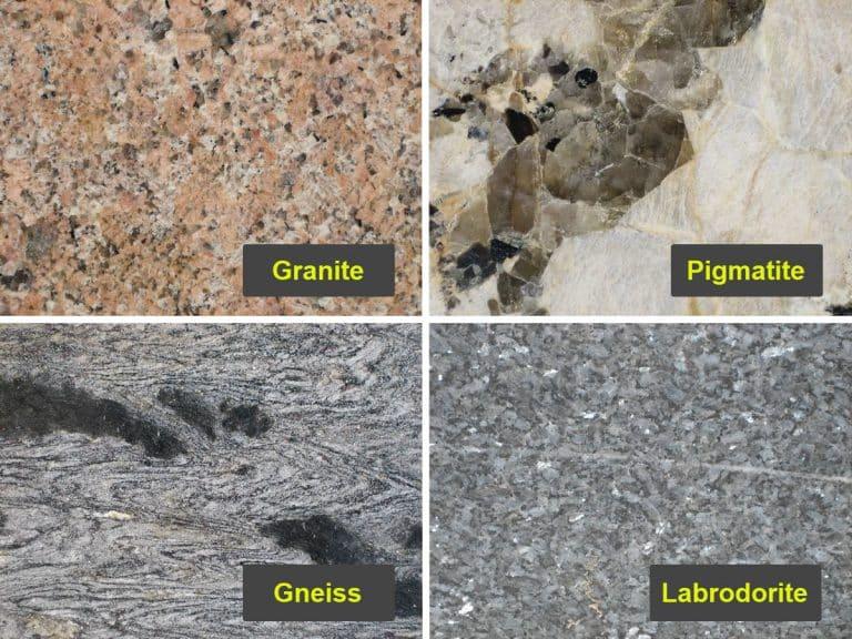 Image showing 4 types of granite