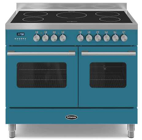 Striking image of a light blue range cooker