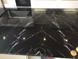 Image of a book-matched worktop join