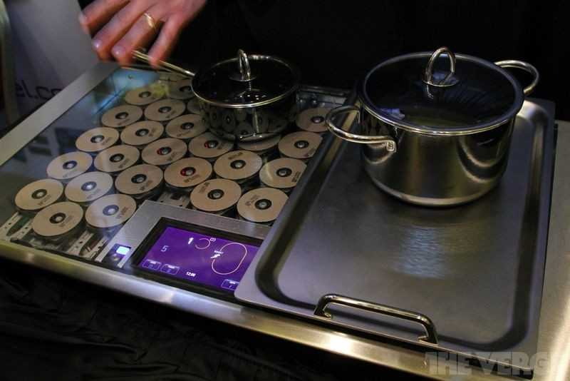 Imgae showing the workings of an induction hob