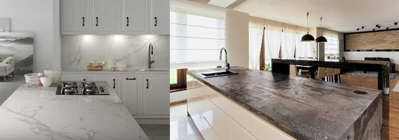 Examples of Dekton worksurfaces