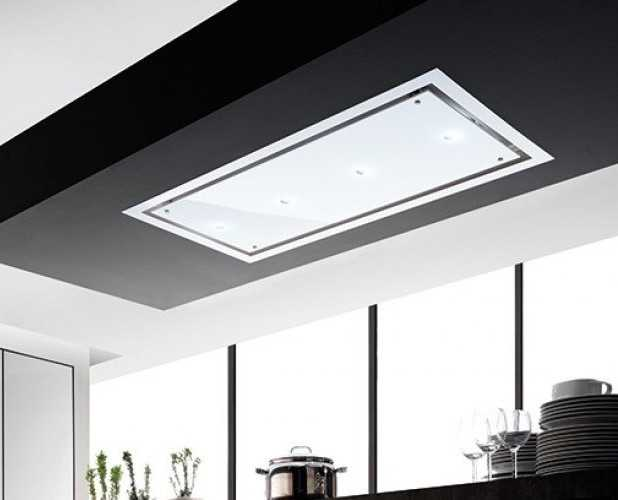 Image of a flush to ceiling hood