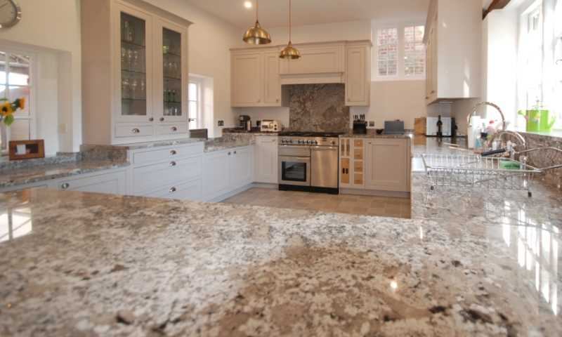 Image of a kitchen with beautiful granite worktops