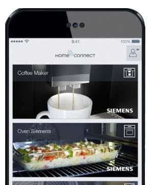 Image of HomeConnect app on a smartphone