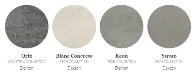 Image of industrial effect Dekton colours