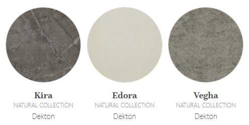 Image of irregular natural effect Dekton colours