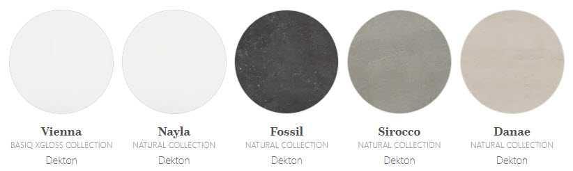 Image of natural granulate Dekton colours