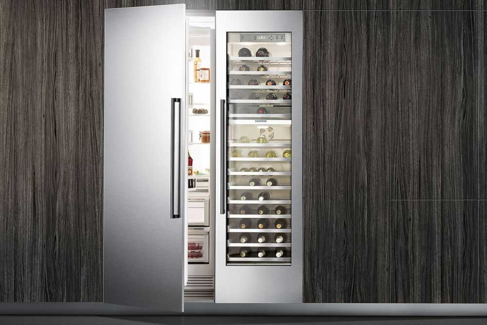 Image of a fridge with wine cooler
