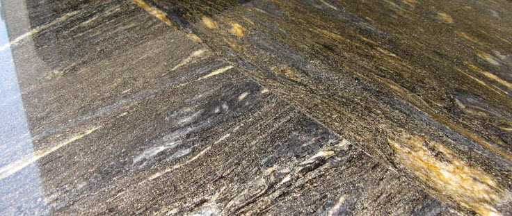 Image of a join in a stone worktop