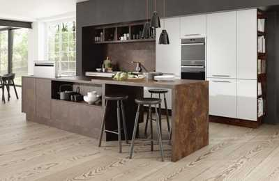 Image of a contemporary style kitchen with clean lines
