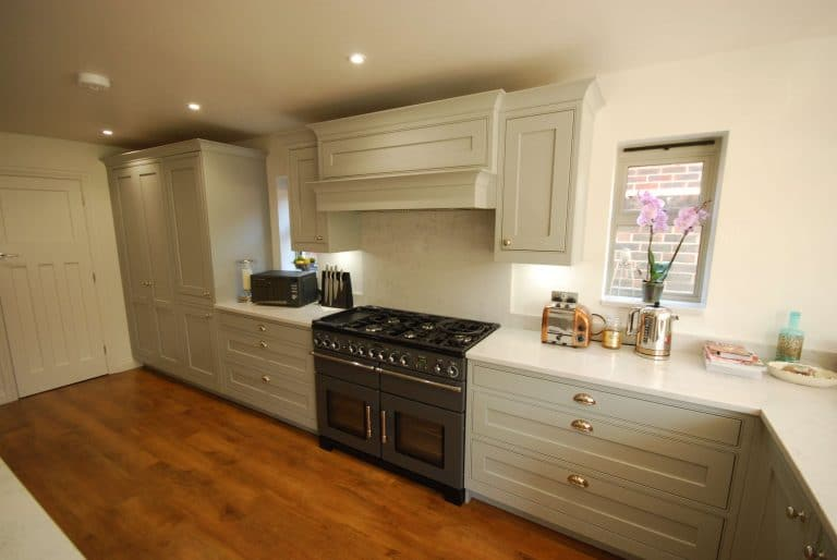 Image of a kitchen installation with a range cooker