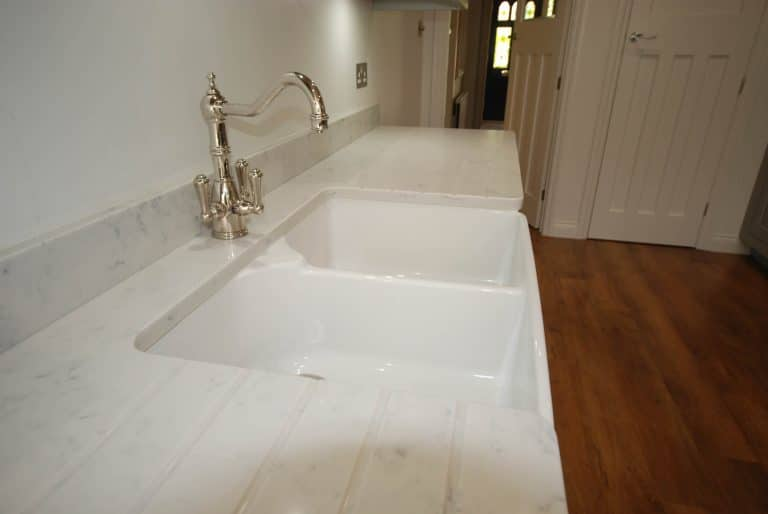 Image of a Blanco double farmhouse sink