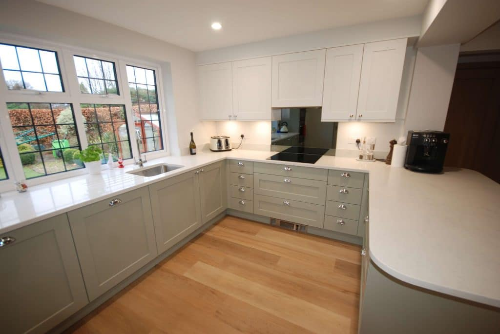 Modern 2 tone kitchen in Surrey