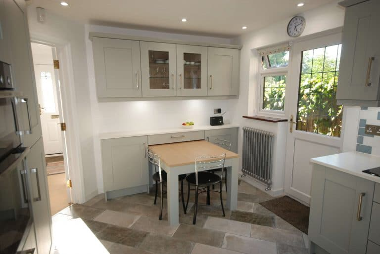 Godalming kitchen installation with custom table