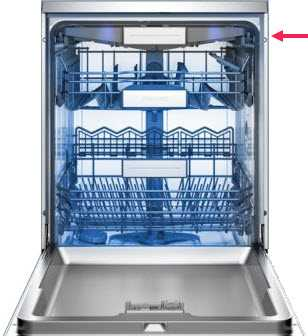 Dishwasher with top cutlery tray