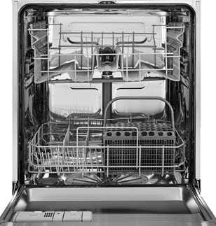 Dishwasher without cutlery tray