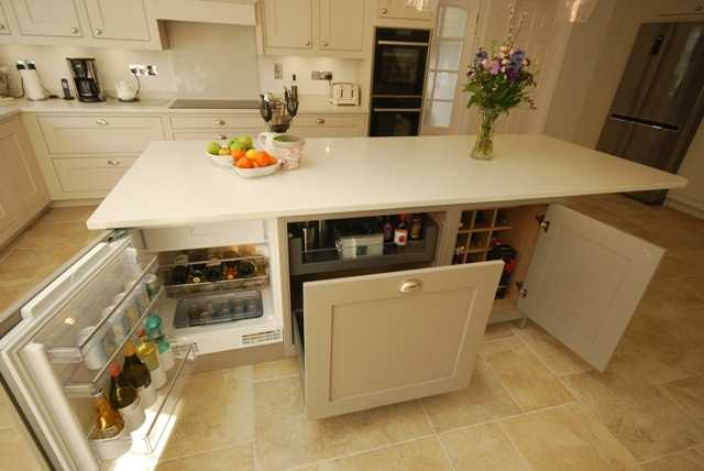 Image of a kitchen island designed by Saffron Interiors