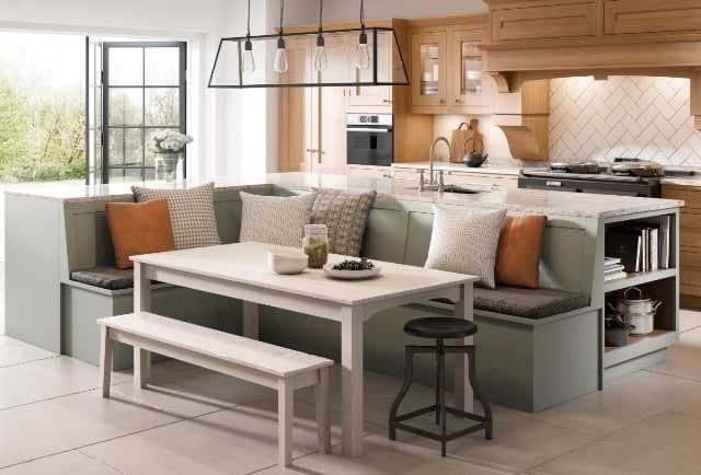 Image of a kitchen bench seating