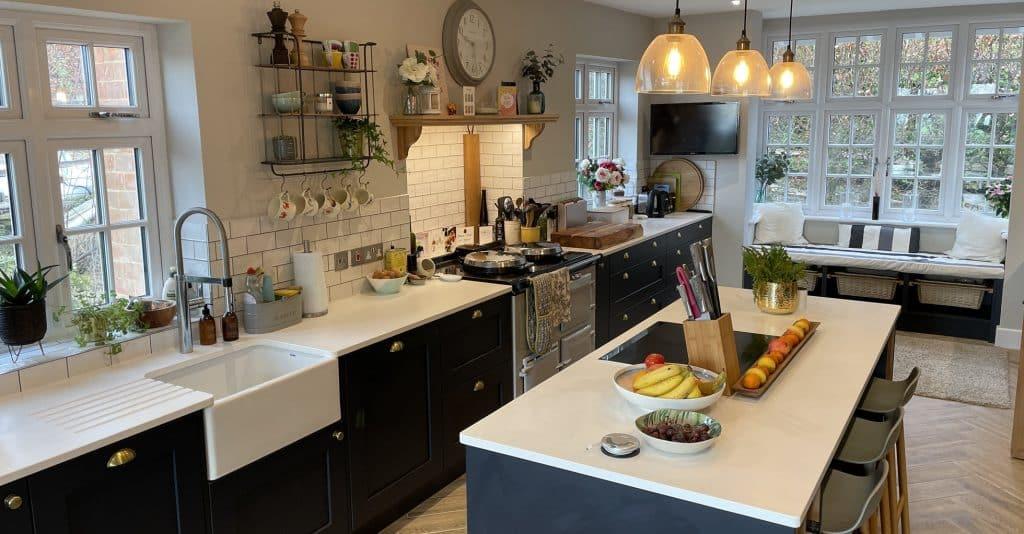 Stunning painted kitchen in Cranleigh